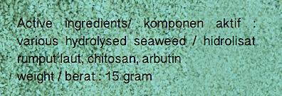 Bahan Aktif Brightening Face Cream Ocean Fresh Seaweed Chitosan