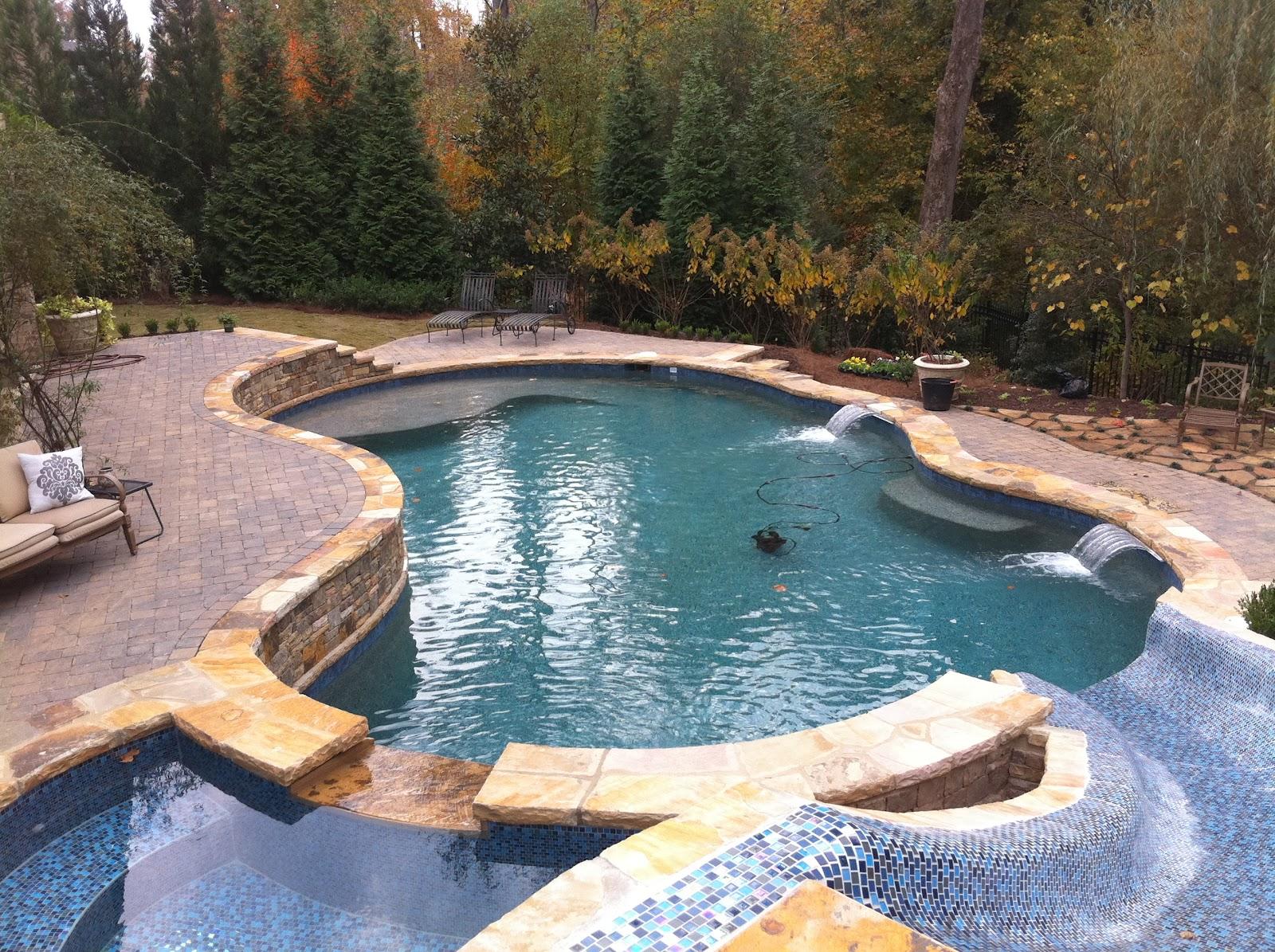 backyard oasis pools free form pool st marlo. Black Bedroom Furniture Sets. Home Design Ideas
