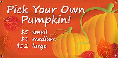 Pick your Own Pumpkin Banners | Banners.com