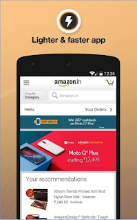 Amazon India Online Shopping apk lighter and faster app