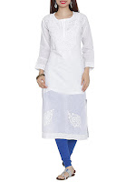 Ada white cotton chikankari kurta – INR 1749
