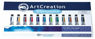 ArtCreation Expression water colour set 12 x 12 ml