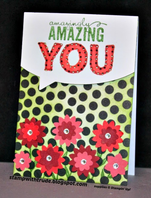 Stampin' Up!, Trude Thoman, stampwithtrude.blogspot.com , March Paper Pumpkin, Painted Petals, Thank you card, encouragement card, birthday card