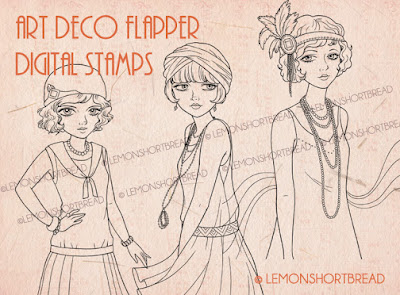 FLAPPER SERIES DIGI STAMPS