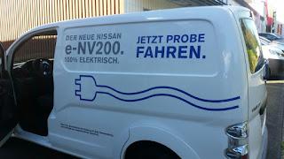 Nissan eNV200 elektro transporter Probefahrt stuck belz Bonn