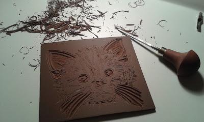 gravure du chat