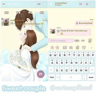 Download BBM MOD Sweet Couple Versi Terbaru