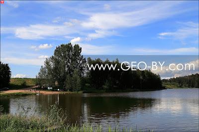 Река Чайка. Водохранилище у деревни Богуши