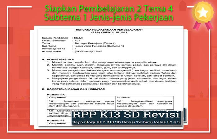 Pembelajaran 2 Tema 4 Subtema 1 Jenis-jenis Pekerjaan