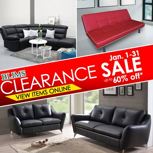 Manila Shopper: BLIMS Furniture Clearance SALE: January 2016