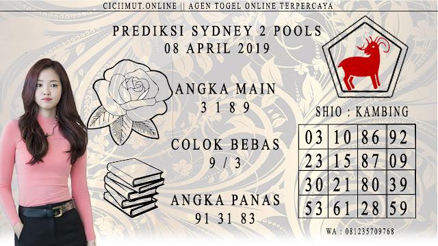 Prediksi Angka Jitu SYDNEY 2 POOLS 08 APRIL 2019