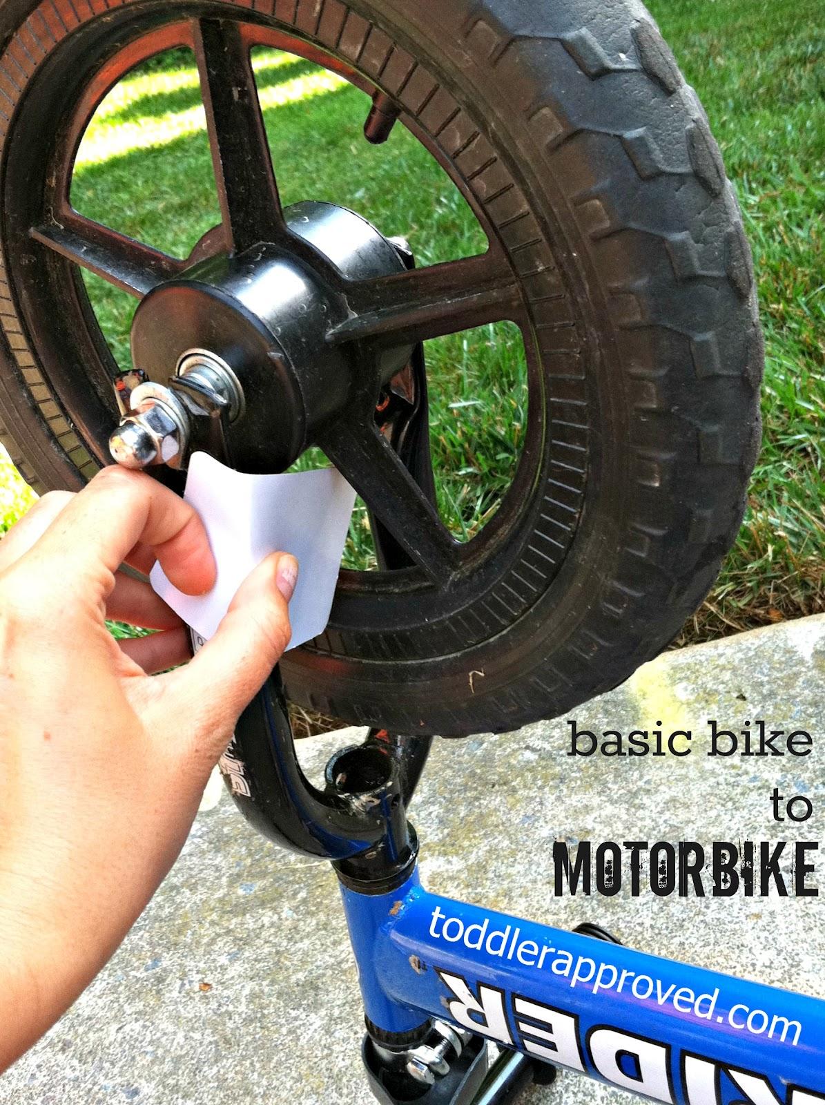 Toddler Approved Basic Bike To Motorbike