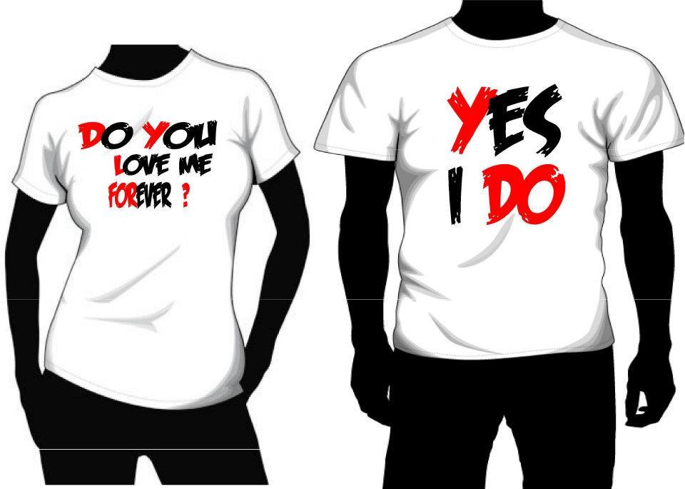 creative t-shirt design ideas: Wedding shirt design idea 2