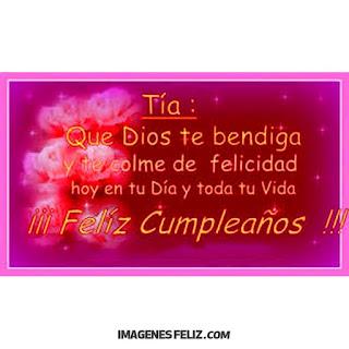 Feliz Cumpleaños Tia
