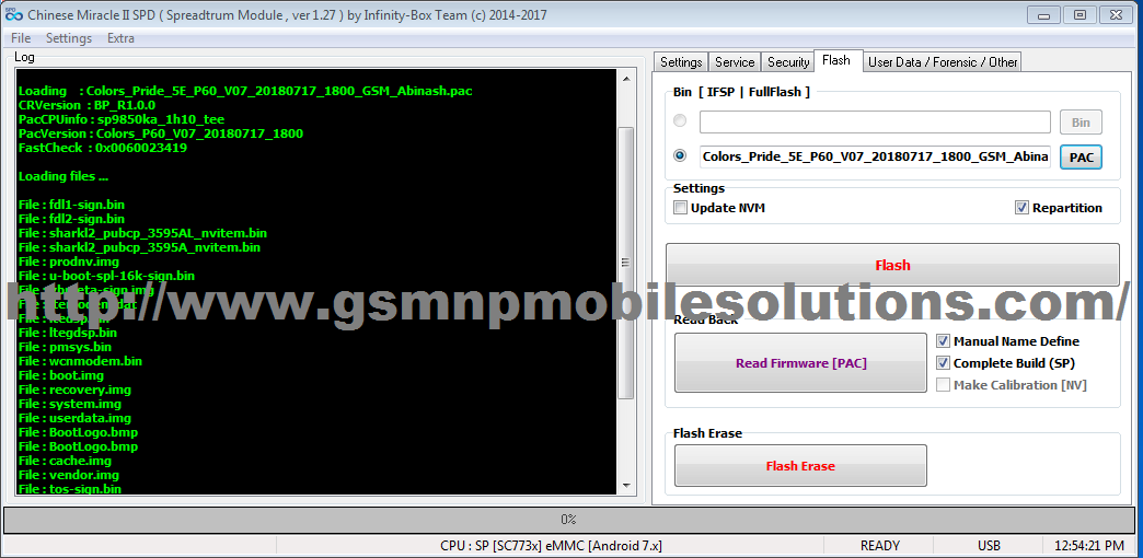 Colors Pride 5E P60 V07 Latest Update Official Firmware Stock Rom