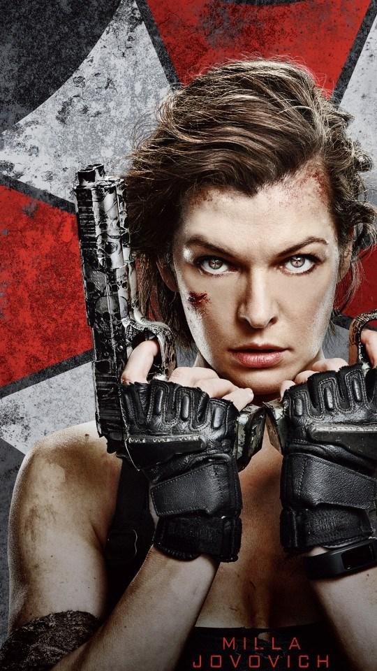 Filme Resident Evil 6 Milla Jovovich 540x960 Papel de Parede