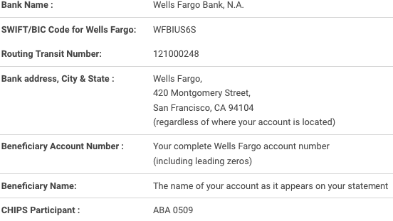 Domestic Wire Transfer to Wells Fargo Bank Domestic wire transfers are run through either the Fedwire system or the Cleaning Home Interbank Payments System ...  sc 1 st  ABA Routing Numbers 2017 : wells fargo wiring routing number - yogabreezes.com