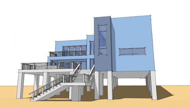 building Supported on Stilt Floor