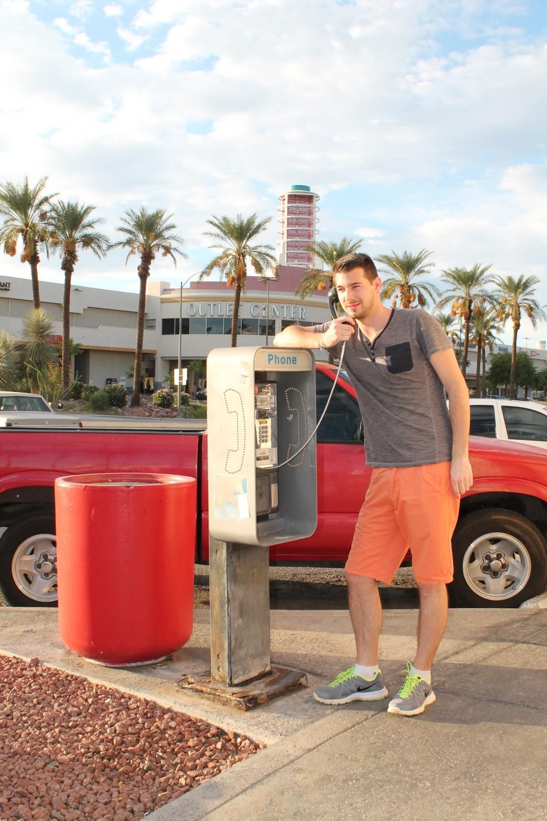 USA états unis amérique vacance transat roadtrip ouest américain laughlin telephone cabine