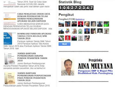 Pengelola Blog - Aina Mulyana