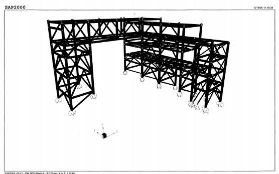 Factory pipe rack fondation hand calculation - SAP2000
