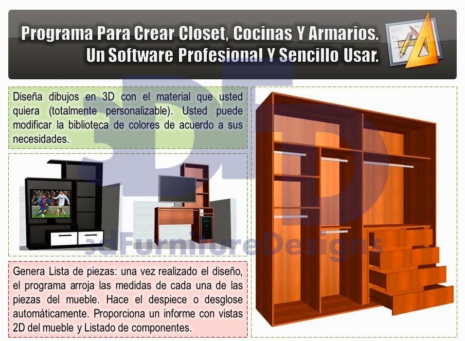 Software diseo armarios great ver ms programas de la for Software diseno muebles gratis