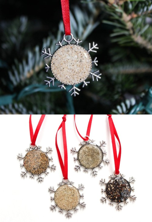 Snow Flake Sand Ornaments