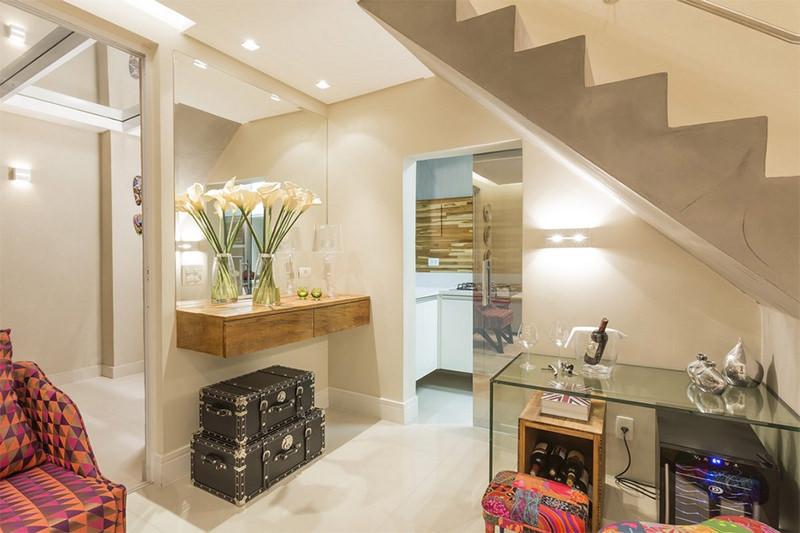 Decoracao De Sala Com Escada ~ Consultoria de decoração salas pequenas com amarelo do apê da
