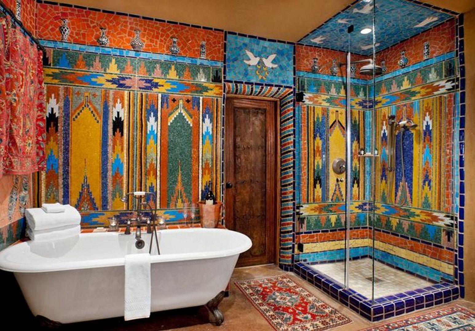 southwestern bathroom rugs