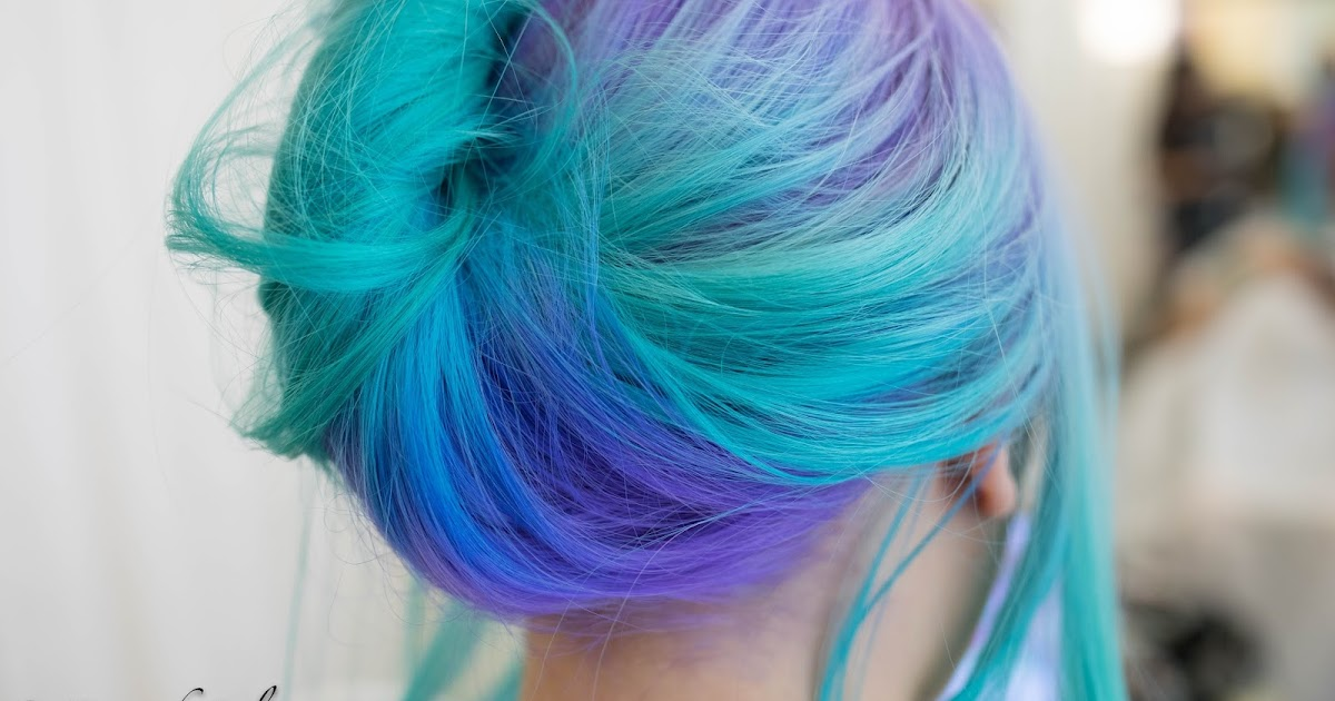 Welcome Color Player Aquamarine With Purple Root Ombre