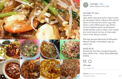Makanan Melayu Pekanbaru Riau Mie Sagu Selat Panjang