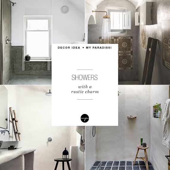 Showers with a rustic charm | My Paradissi