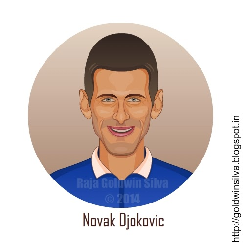 Novak Djokovic cartoon