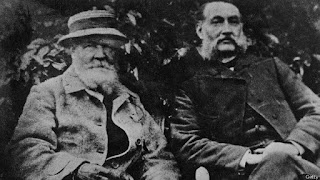 Fotografía de Louis Le Prince junto a su suegro