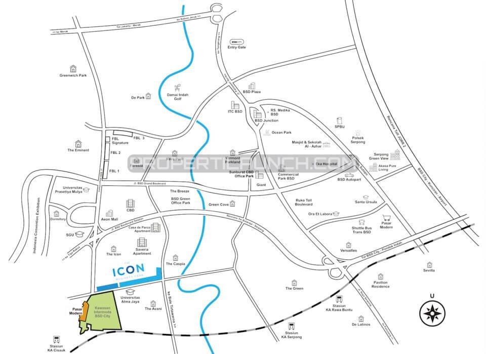Peta Lokasi Intermoda BSD