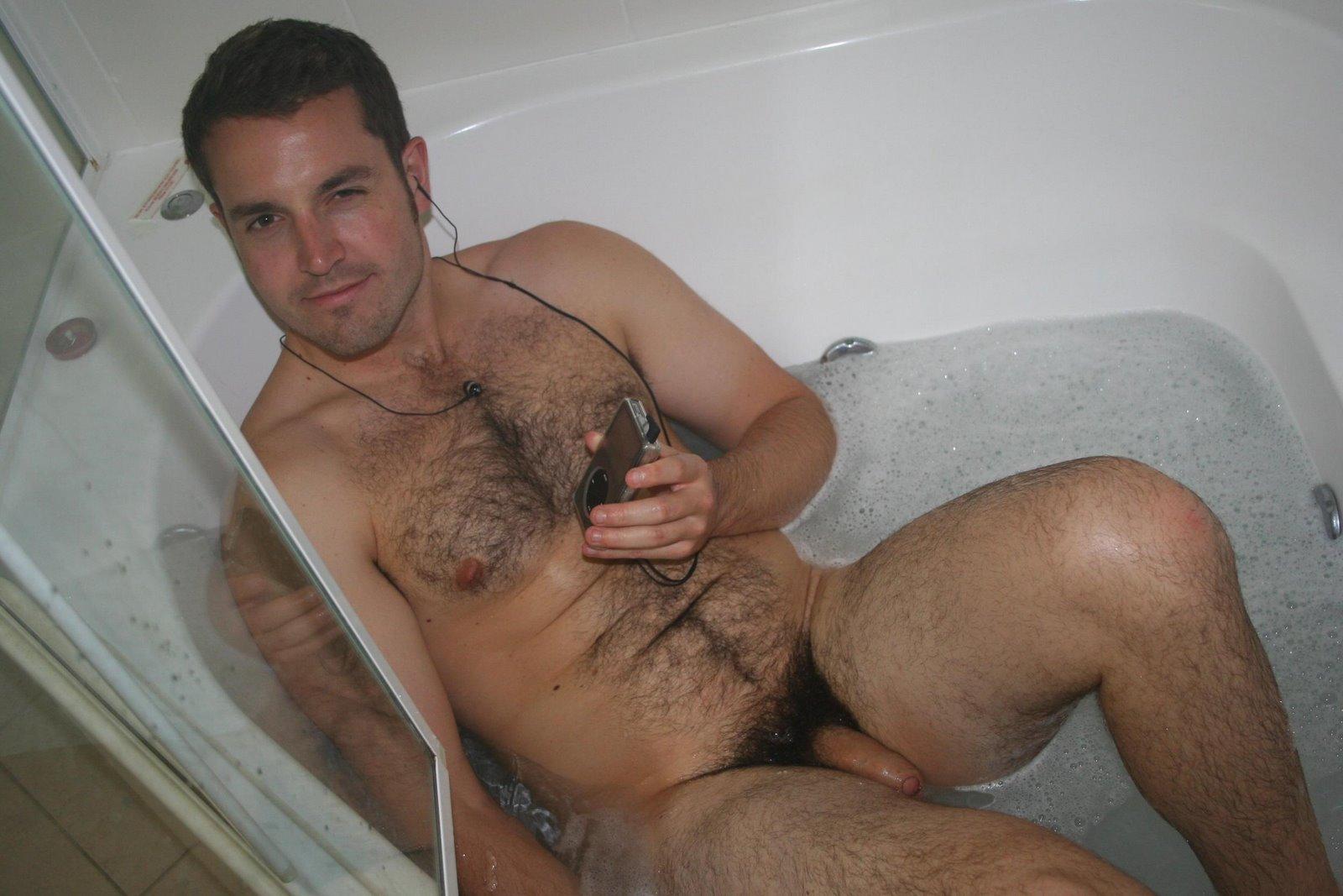 naked average hairy lad