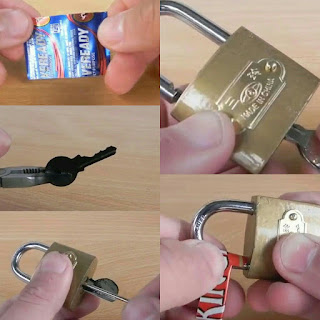 In these two ways you can open the lock