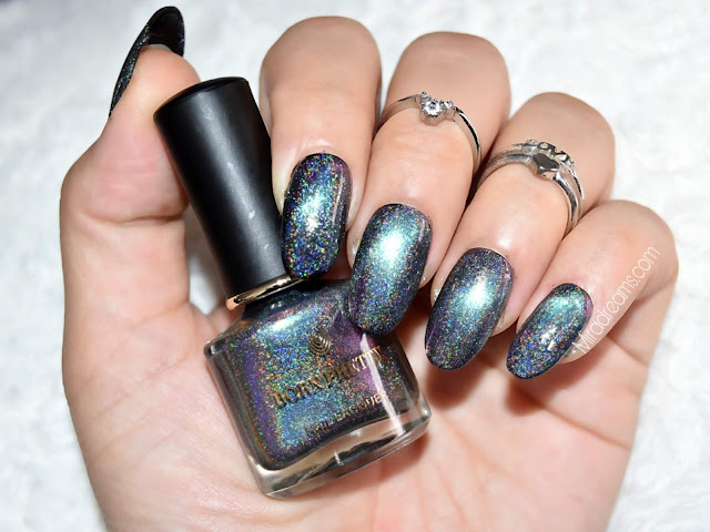Holographic Chameleon Nail Polish Magnetic Cat Eye Nail Designs #43679