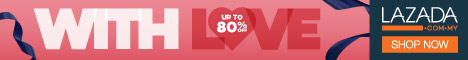 With Love From Lazada sale up sehingga 80%