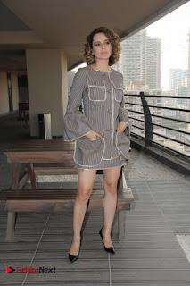 Kangana Ranaut Stills in Short Dress at 'Rangoon' Movie Promotion