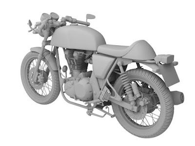 Royal Enfield Continental GT cafe racer look
