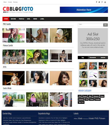 CB Blog Foto - Gallery Responsive Blogger Template