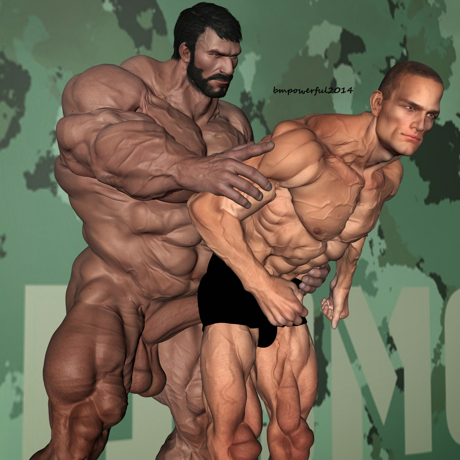 3D Muscle Sex 3d gay erotic muscle art: 2014