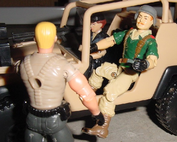1985 Crankcase, AWE Striker, 2001 Desert Striker, 1997 Lady Jaye, 2003 Unproduced Wal Mart Sky Patrol Duke