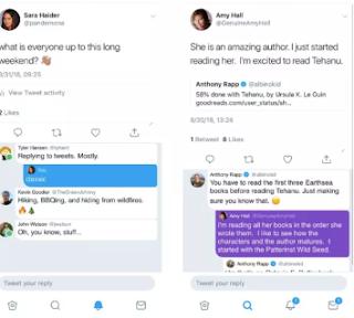 تويتر يختبر أضافة الردود المترابطة و ومؤشرات الحالة
