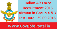 Indian Air Force Recruitment 2016