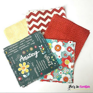 "6"" squares of fabric from Adornit"