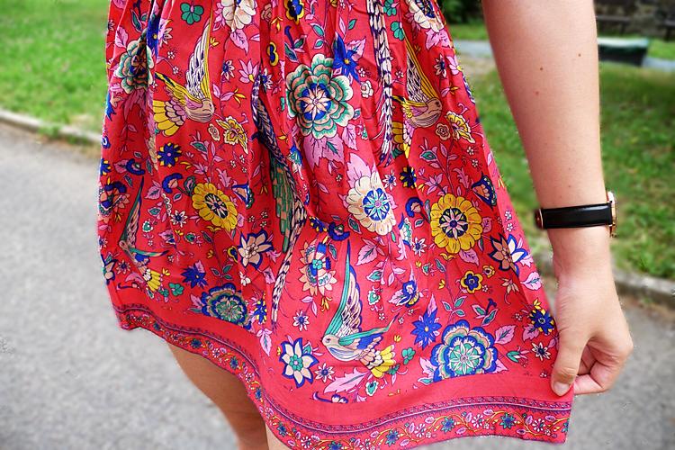 Floral Half Buttoned A-Line Dress zaful.com