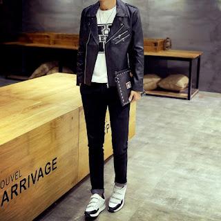 Jaket Kulit Pria Korea Model Terbaru Juni 2016