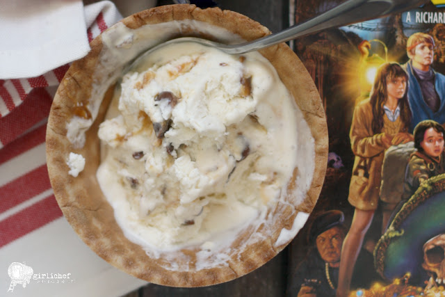 No-Churn Baby Ruth Chunk Ice Cream inspired by The Goonies